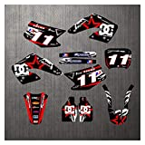 Zhbqcmou Motocross Pegatinas Fondos Decladores Kits Gráficos para Honda CR250 CR125 2000 2001 hnzhb (Color : As Shown)