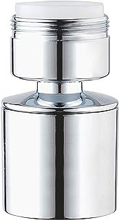 Waternymph dubbelfunctionele waterkraan-luchtbruiser, 360 graden draaibare zwenkkop, chromen waterkraan-zeefstraalregelaa...