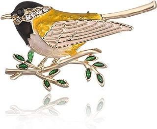 AILUOR Cute Bird Brooch Pins, Enamel Bird Collection Custom Accessories Wedding Brooches Jewelry Gifts Women Teen Girls