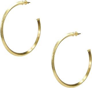 Celine Pyramid Hoop Earrings in Champagne