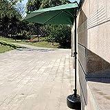 FCXBQ Parasols Ø 9ft Wall Balcony Patio Umbrella, Garden Wall Mounted Cantilever Tilting Sunshade Umbrella with Metal Pole (Color : Dark Green) (Color : Green)