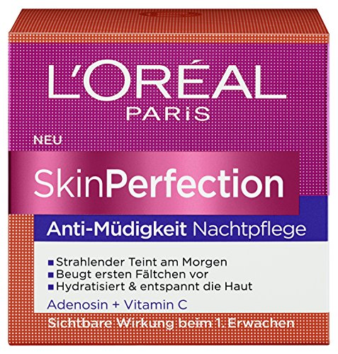 L'Oréal Paris Skin Perfection Anti-Müdigkeit Nachtpflege, 1er Pack (1 x 50 ml)