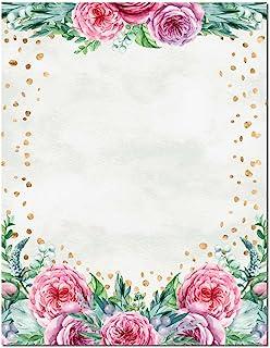Confetti Flowers Letterhead Laser & Inkjet Printer Paper, 100 Pack