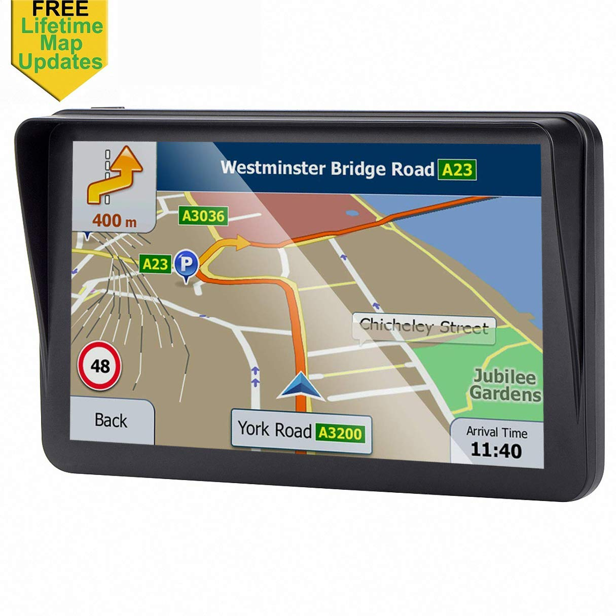 Driving Alert GPS Navigation for Car,7-inch Car GPS 8GB HD GPS Navigator,Free Update Map,Voice Broadcast Function