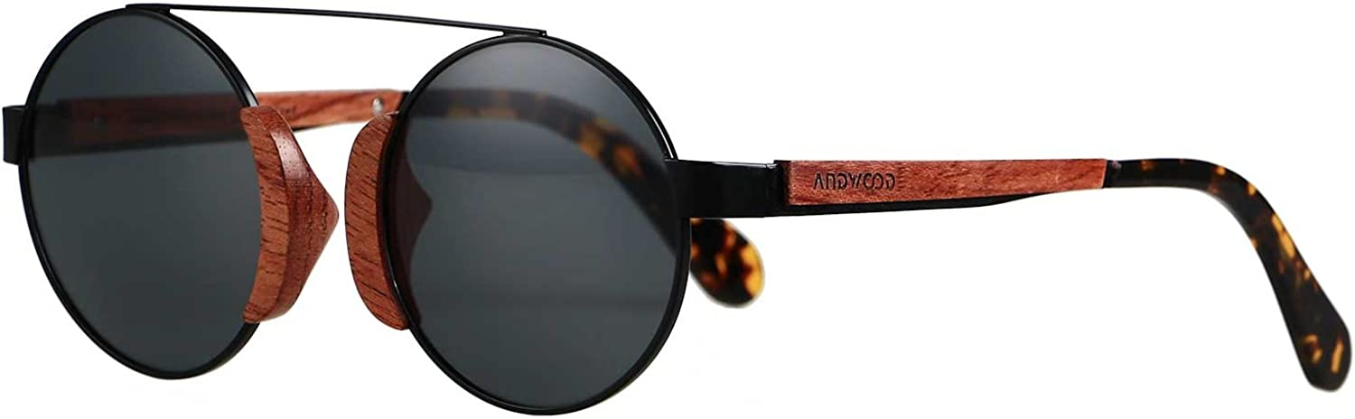 ANDWOOD pinkwood Sunglasses Polarized for Men and Women Hippy wooden Style