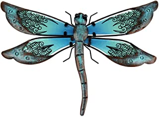 Best Liffy Metal Dragonfly Garden Wall Decor Outdoor Fence Art Outside Hanging Decorations for Living Room, Bedroom Review