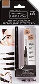 BELLA BROW By Dream Look, Microblading Eyebrow Pen with Precision Applicator (Single Pack - Brown) – As Seen On TV, Natura...