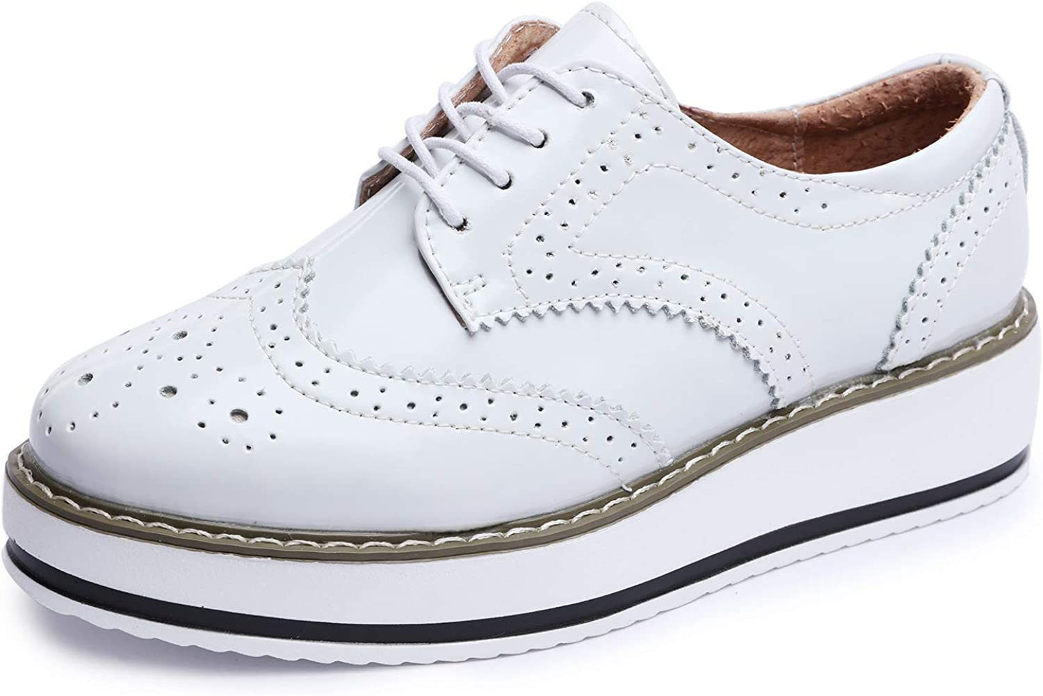Catata Quality inspection Womens Wingtip Wedges Oxfords Platform Shipping included Brogues Lace-up We
