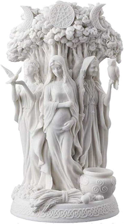 LGYKUMEG La Triple Diosa de la religi/ón Griega Celtic Dandu Espera Poder cosechar Muebles con Honor,Blanco