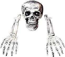 NC Halloween Creepy Graveyard Skull Hand Bones Decorations Esqueleto de de alta simulação para decorações de Halloween