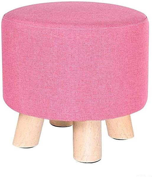 Carl Artbay Wooden Footstool Pink Woody Four Legged Stool Low Stool Creative Child Home