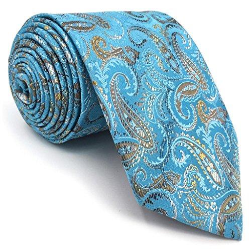 Shlax&Wing Paisley Blau Herren Krawatte Seide Suit