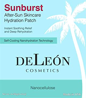 Sunburst After Sun Skincare Hydration Patch | Instant Soothing Relief and Deep Rehydration | Plant Based Self-Cooling Technology | DeLeon Cosmetics | Made in USA