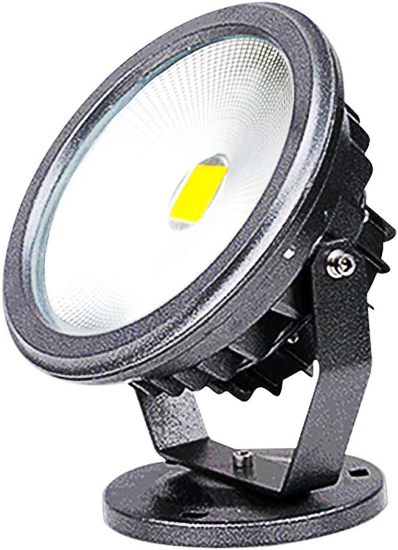 LED Landschaft Scheinwerfer, Flutlicht Sicherheit Runden Villa Terrasse Bunt Türkopf Modern (Farbe   Weies Licht-30W)