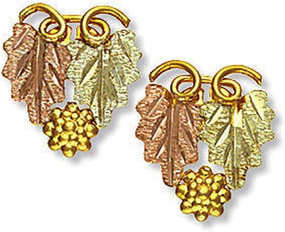 Landstroms Classic 10k Black Hills Gold Earrings, for Pierced Ears - G LA136P