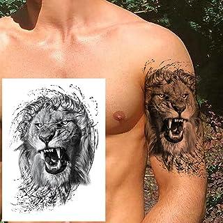 Geometrische Tijdelijke Tattoo Man Vrouw Kind Leeuw Vos Bloem Tattoo Zwarte Pioen Sticker Onderarm Tattoo-GTH108X
