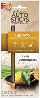 Enviroscents Auto Sticks Natural Car Air Fresheners, 1-Pack with 2 Sticks (Fresh Lemongrass)