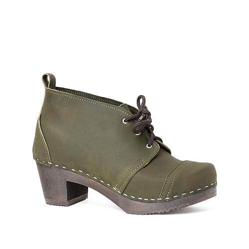 8dfe7683a3a Sandgrens Swedish High Heel Wooden Clog Boots for Women