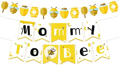 NICROLANDEE Bee and Honey Baby Shower Banner Mommy To Bee Paper Garland for Bumble Bee Gender Reveal Party Bumblebee Themed Baby Shower Decoration