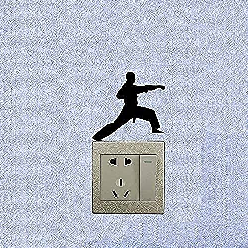 Etiqueta De La Pared Etiqueta Del Alfabeto Inglés Karate Vinilo Interruptor De Luz Calcomanía Decoración Del Hogar Etiqueta De La Pared