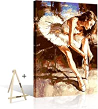 DIY Paint by Number, Ballet Dancer Color by Number for Adult, Paint by Numbers for Adults..
