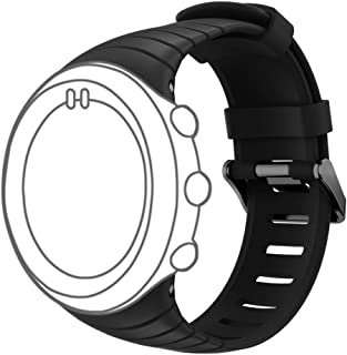 DB for Suunto Core Watch Replacement Band, Colorful Soft Silicone Replacement Strap with Metal Clasp for Suunto Core Smart Watch (Free Size,NO Deceive) All Balck