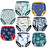 MooMoo Baby Potty Training Pants 8 Packs Absorbent Toddler Training Underwear for Boys 4T