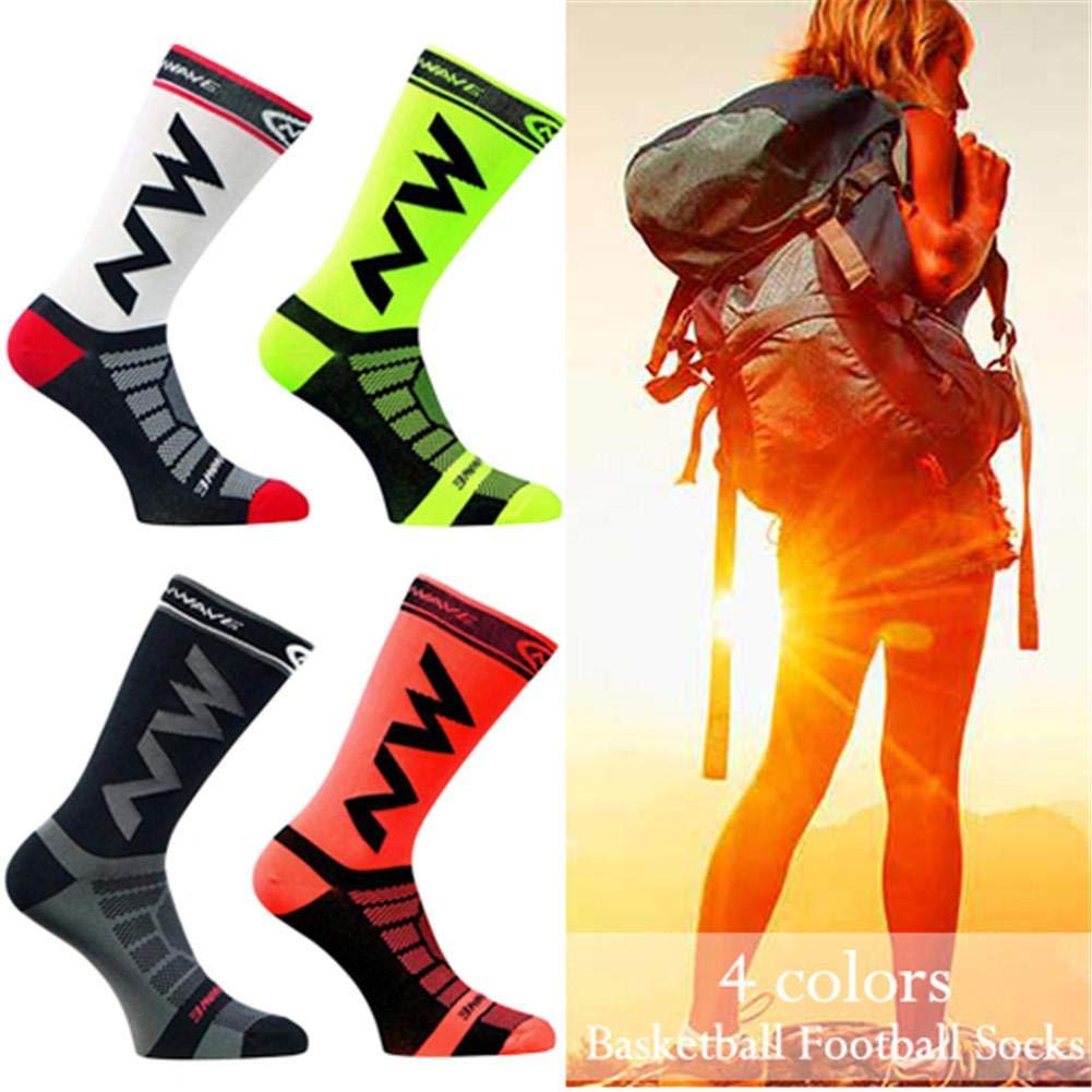 Calcetines de Ciclismo para Montar en Bicicleta de Nylon de Secado r/ápido y Transpirable para Hombres y Mujeres