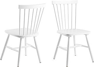 AC Design Furniture Susanne Chaises de salle à manger, Bois, White, L: 48 x l: 48,5 x H: 86 cm