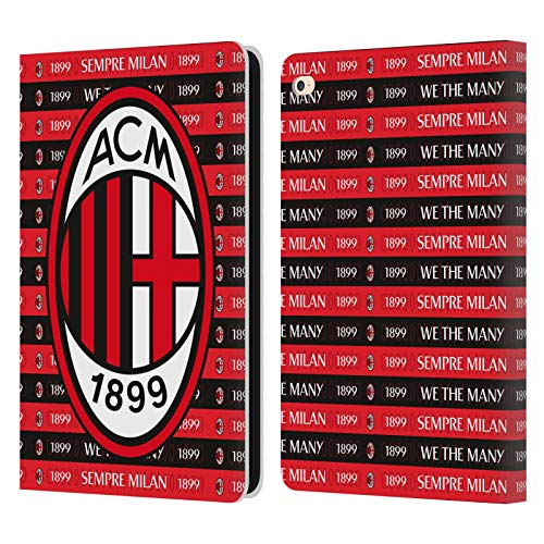Official AC Milan Sempre Milan 1899 Art Leather Book Wallet Case Cover Compatible For Apple iPad Air 2 (2014)