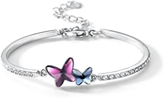 """T400 Jewelers""""Dream Chasers"""" Butterfly Bracelet Made with Crystals Mother's Day Gift"""