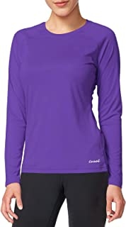 CASEI Women's Long Sleeve Shirts Sun Protection Moisture Wicking T-Shirt Workout Sport Tee