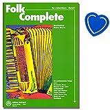 50 canciones de acordeón mundialmente conocidas han sido editadas por Walter Maurer con dificultad ligera a media. Libro de partituras con colorido clip en forma de corazón.
