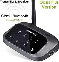 Avantree Certified aptX HD Bluetooth Transmitter Receiver for TV, Low Latency Wireless Audio Adapter for 2 Headphones, Long Range, Voice Guide, Touch Screen, Splitter for Wire & Wireless - Oasis Plus