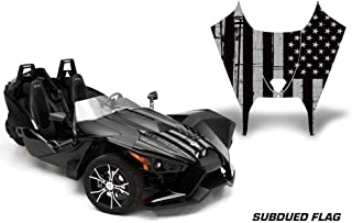AMR Racing Roadster Graphics Trim kit Sticker Decal Compatible with Polaris Slingshot 2015-2016 - Subdued Flag