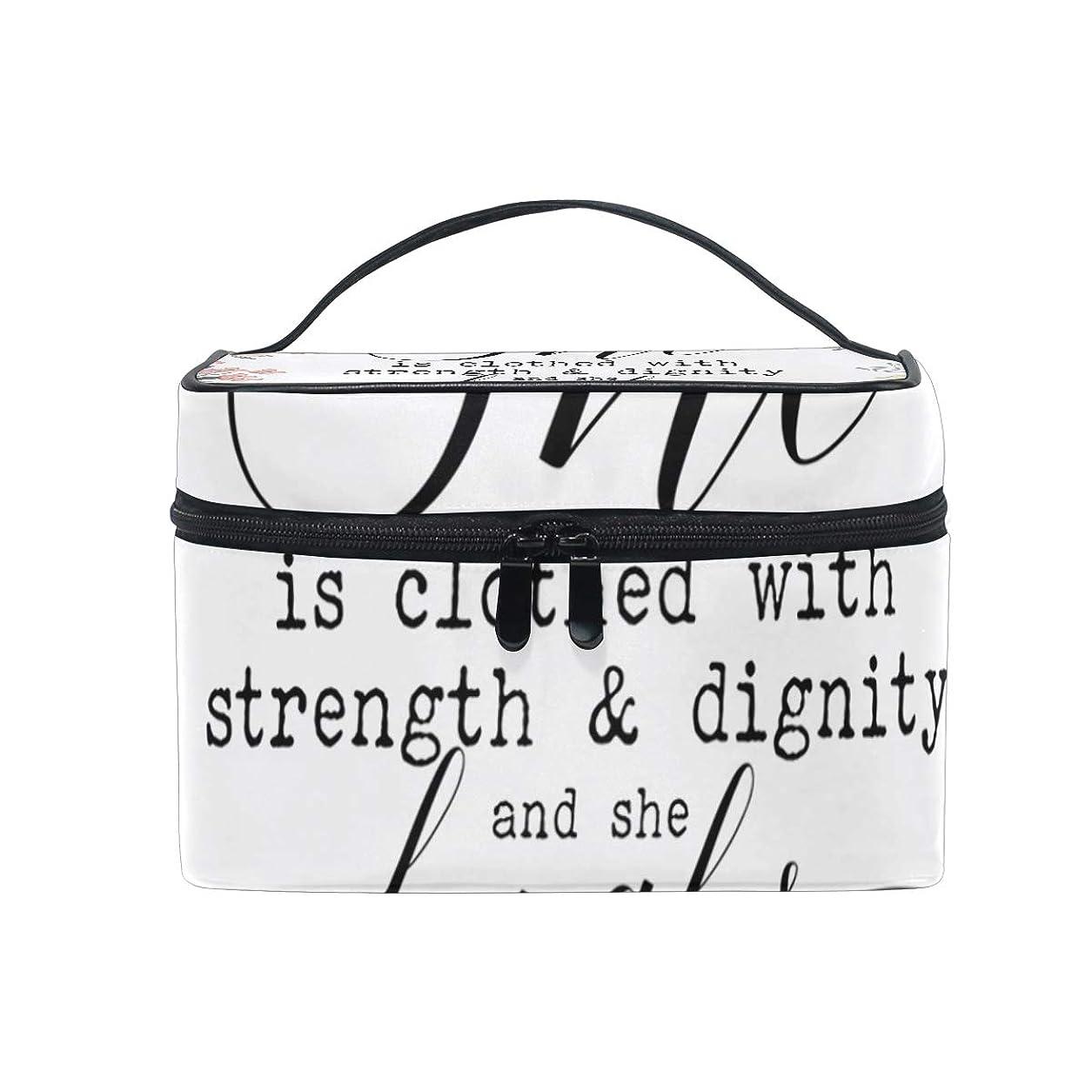 スカイ命題セミナーメイクボックス キリスト教のことわざ柄 化粧ポーチ 化粧品 化粧道具 小物入れ メイクブラシバッグ 大容量 旅行用 収納ケース