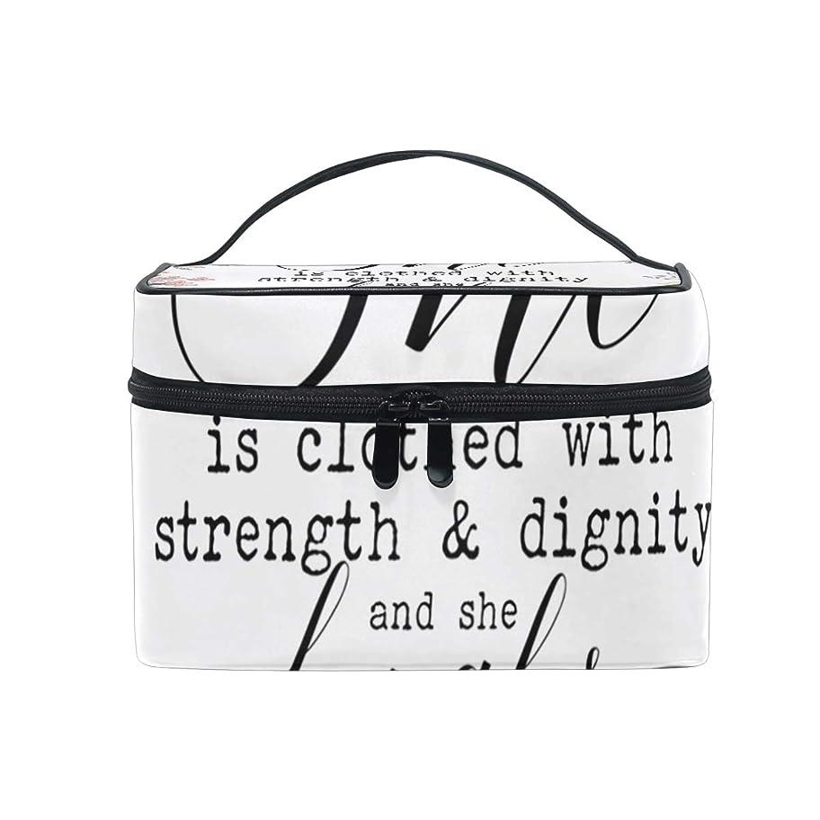 一離れてなぜメイクボックス キリスト教のことわざ柄 化粧ポーチ 化粧品 化粧道具 小物入れ メイクブラシバッグ 大容量 旅行用 収納ケース