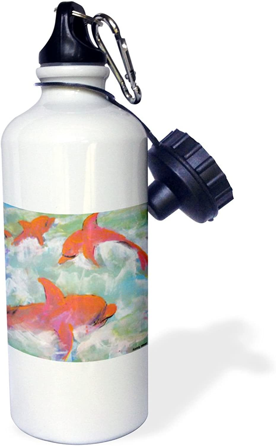 3dpink wb_66375_1 Fish Election, Vote Green Or gold Sports Water Bottle, 21 oz, White