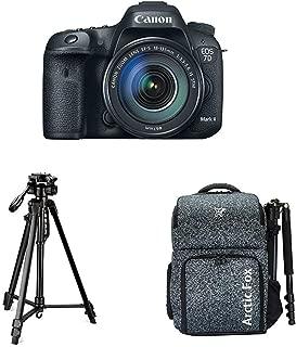 "Canon EOS 7D Mark II Digital SLR Camera + 18-135mm is USM Lens with Digitek 550LW Tripod + Arctic Fox Camera Bag with Lens, 15.5"" Laptop & Tripod Holder"