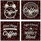 Carson Coaster Square 4 Piece Coffee Bean Home Decor