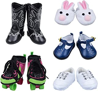 18 Inch Doll Shoes - 5 Pairs Doll Shoes, Doll Accessories for American Girl Dolls, My Life Doll,Our Generation Doll