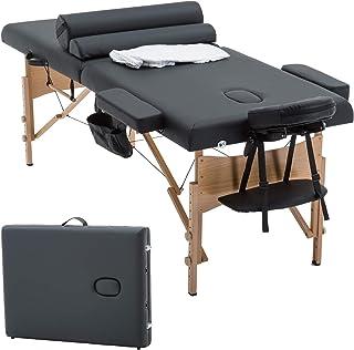 Massage Table Massage Bed Spa Bed 84 Inch Long 2 Bolster Hanger Massage Table Lightweight Physical Reiki Height Adjustable...