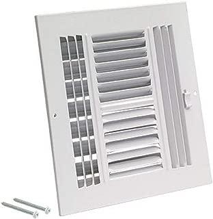 EZ-FLO 61619 Four-Way Sidewall/Ceiling Register, 10