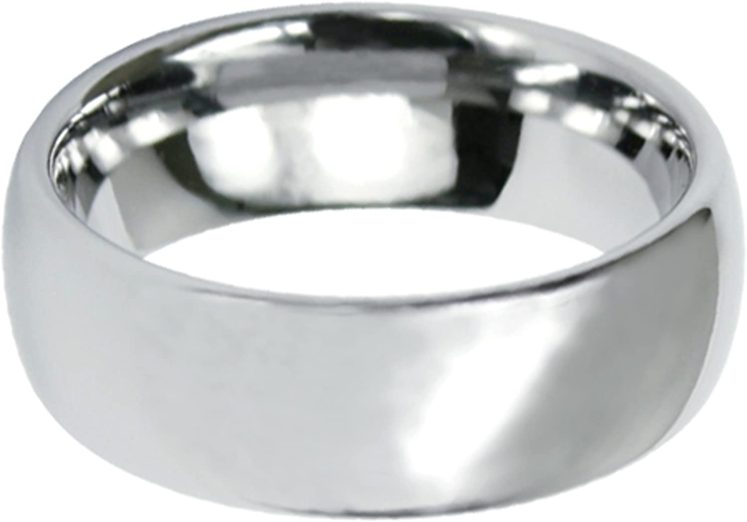 Dome Tungsten Carbide Wedding Band Polished Finish With Ring safety 8mm wholesale