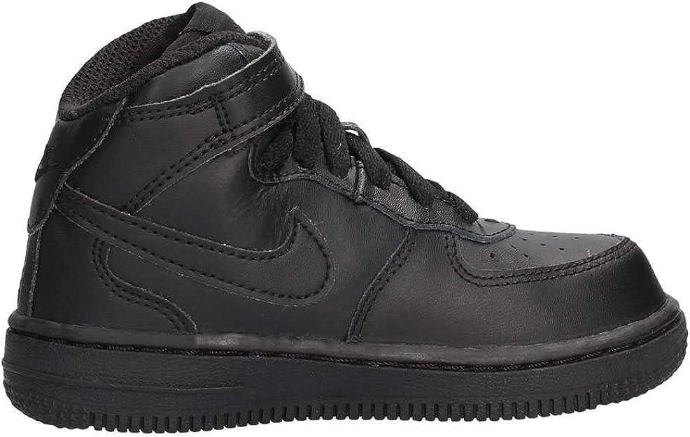 [314197-004] Nike Force 1 MID (TD) Infants Shoes Black/Black