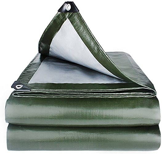 ZM& Tente Verte Imperméable à L'eau De Prougeection Solaire De Bache De Prougeection Imperméable Multifonctionnelle Verte Et Imperméable De Pluie ++ (Taille   6x8m)