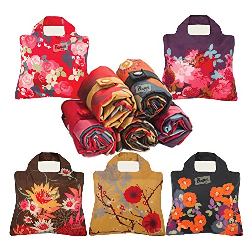 5 er Set Envirosax Bloom Stoffwindel, wiederverwendbar, Einkaufstaschen, ohne Tasche