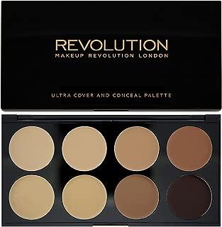 Makeup Revolution London Ultra Cover and Concealer Palette Medium/Dark, 10g