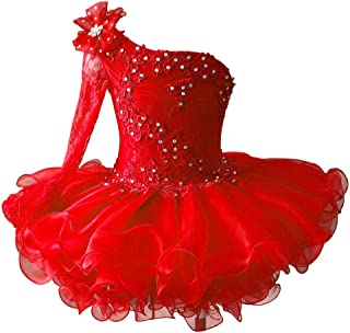 red cupcake pageant dress