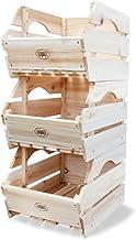 HABAU Skrzynka uniwersalna, zestaw 3-częściowy, drewno, kolor brązowy